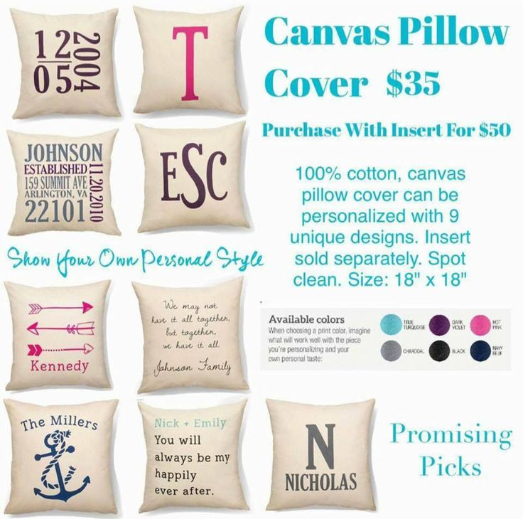 Promising Picks Canvas Pillow Cover