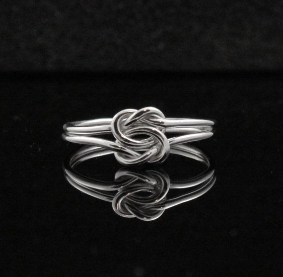 Double knot ring. Double infinity ring. Sterling Silver infinity ring, Celtic knot, Chinese knot Commitment ring