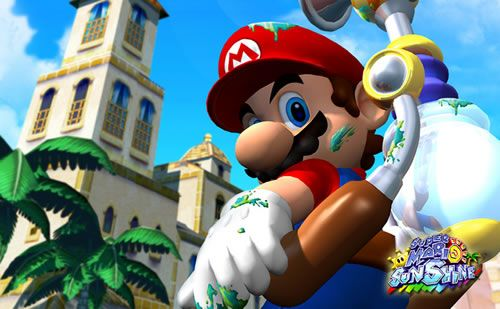 #Mario with FLUDD in #SuperMarioSunshine - this image is part of our Evolution of Mario article, if you'd like to read it click: http://www.superluigibros.com/evolution-of-mario