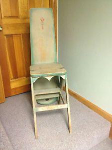 Wood Step Stool Chair Step Stool Chair Chair Ladder Step