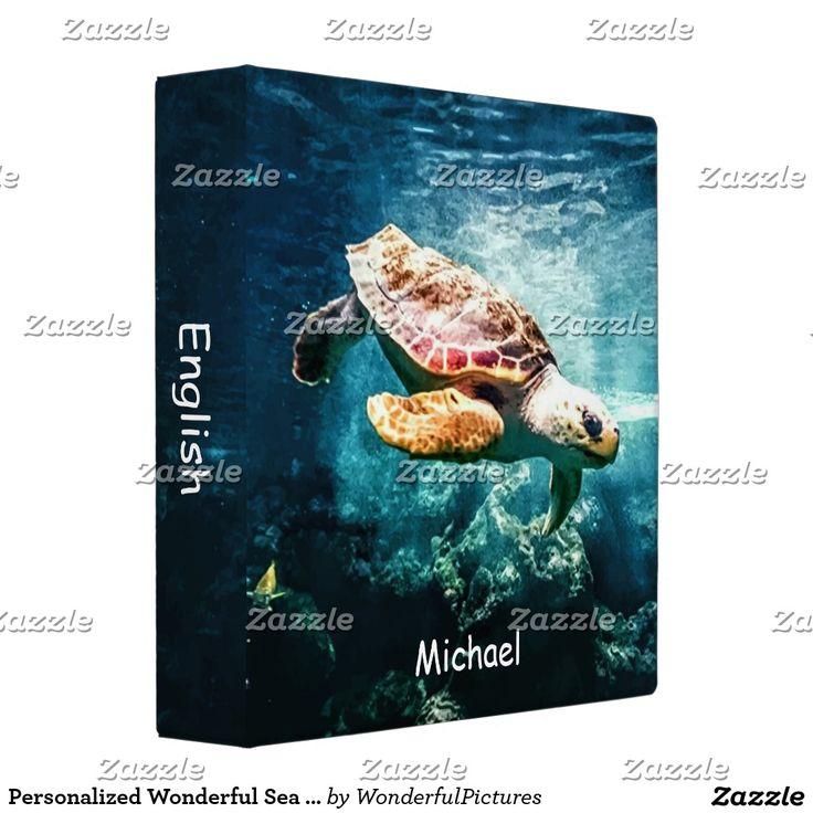 Personalized Wonderful Sea Turtle Ocean Life Binder   Zazzle.com – Zazzle wonderfulpictures