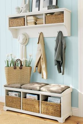 Charming Entry. Pottery Barn.