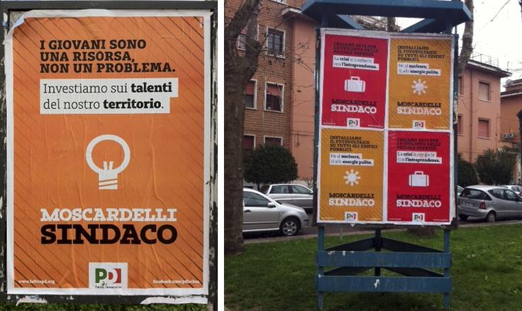 PD LATINA - 2011 - Campagna di comunicazione per il Partito Democratico di Latina costituita  attorno al candidato della coalizione di CSX Claudio Moscardelli.  Il progetto di comunicazione si articola su 6 temi: Famiglia, Cittadinanza, Energie,  Ambiente, Lavoro, Giovani.