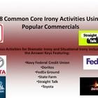 The provided 8 Common Core rigorous activities explore dramatic and situational irony.  The activities are tied to the Common Core standards RI2, R...
