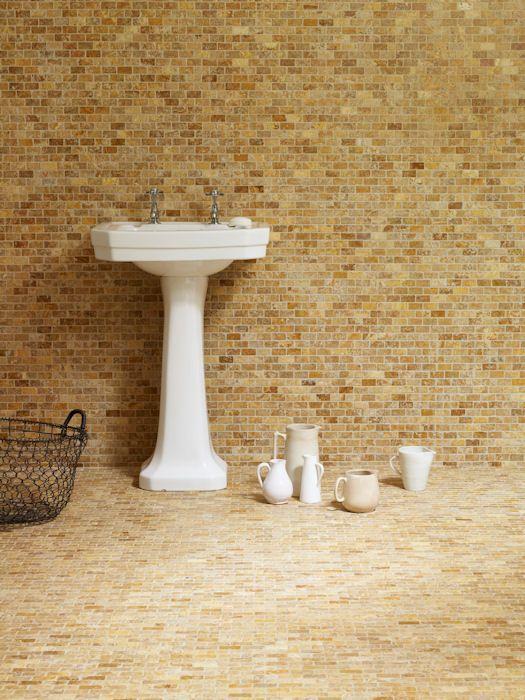 Golden Tumbled Mosaic Travertine