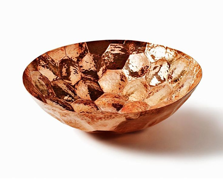Sedonia – Hand formed solid copper Hex bowl by Tom Dixon. instagram.com/sedonia_seddon