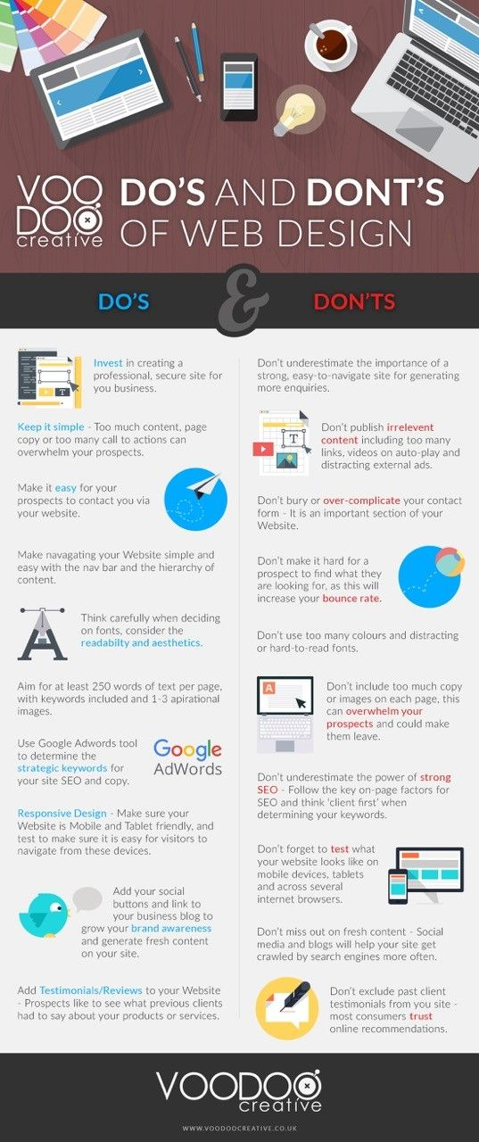 20 Dos & Don'ts for a Successful Small Business Website #Infographic Check out http://www.imedia.click for more amazing info on all things effective online marketing