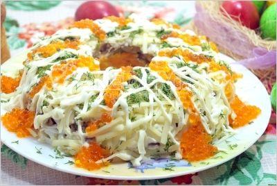 Салат с курицей «Пасхальный»