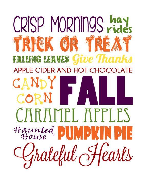 Fall Word Art Print by DesignsByJillianB on Etsy, $5.00