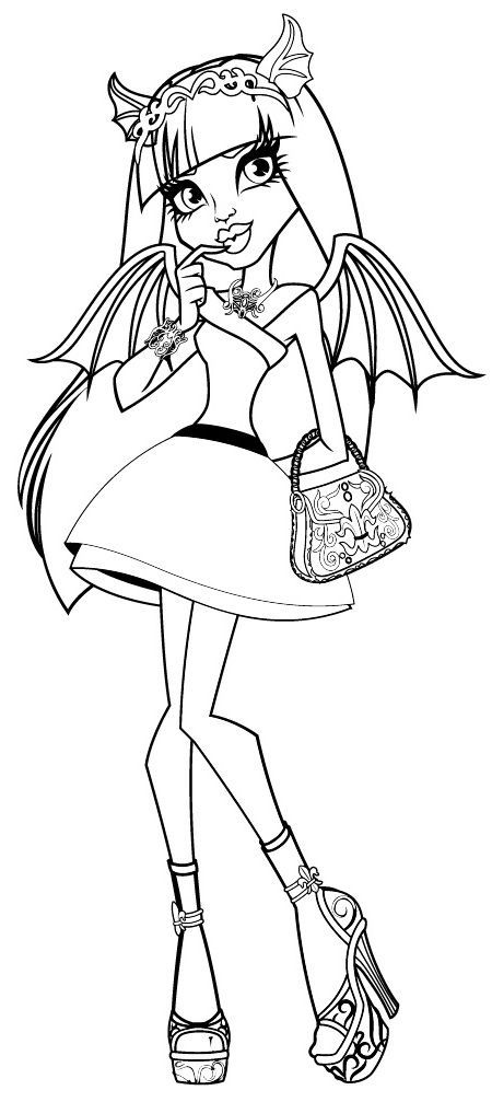halloween monster high coloring pages - photo#2