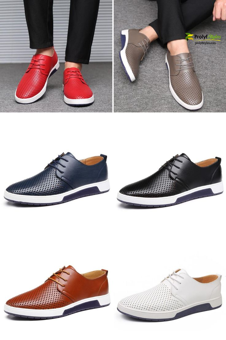 Breathable Leather Summer Shoes