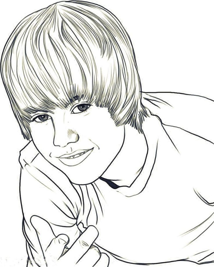 coloring pages justin bieber print - photo#32