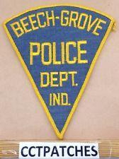 VINTAGE BEECH-GROVE, INDIANA POLICE SHOULDER PATCH