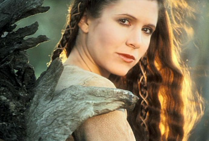 "Carrie Fisher (October 21, 1956 - ) as Princess Leia in ""Star Wars: Episode VI - Return of the Jedi"", 1983. Description from pinterest.com. I searched for this on bing.com/images"