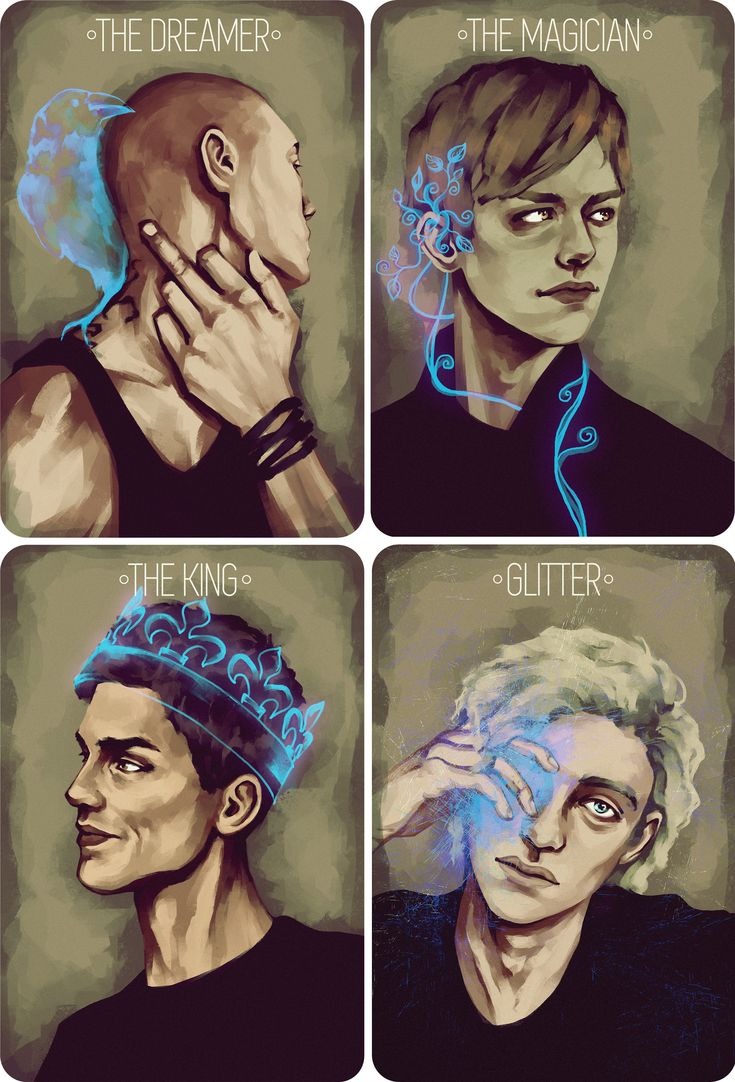 The Gangsey minus Blue & Henry. Beautifully drawn by ramblin-doodles on Tumblr.