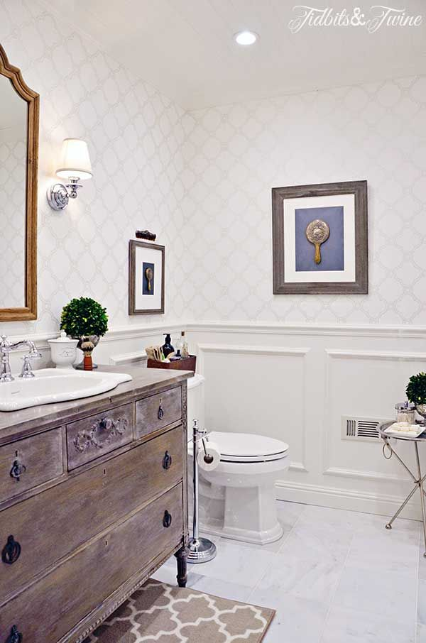 1000 images about old dresser turns into bathroom vanity for Guest bathroom makeover