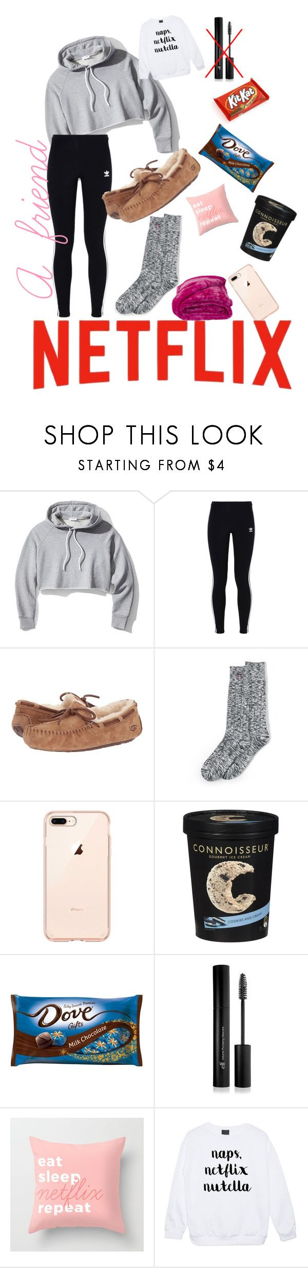 """Breakups Stink "" by mbf0dancer0clemson ❤ liked on Polyvore featuring Frame, adidas Originals, UGG Australia, Lands' End and Forever 21"