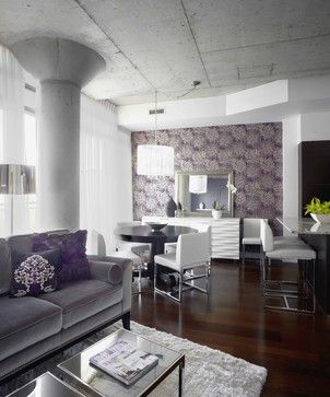 Morrison living room/dining room, Interior Design Toronto - contemporary - living room - other metro - LUX Design