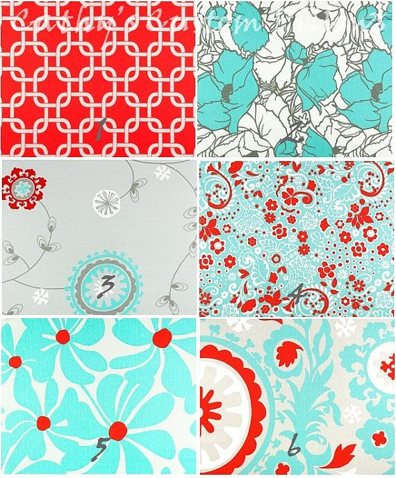 Hey, I found this really awesome Etsy listing at http://www.etsy.com/listing/109000044/turquoise-curtains-red-premier-fabric