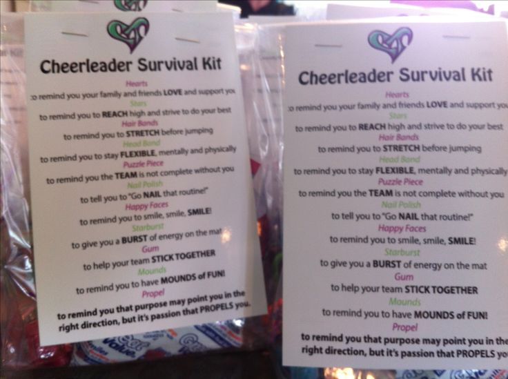 Cheerleader survival kit