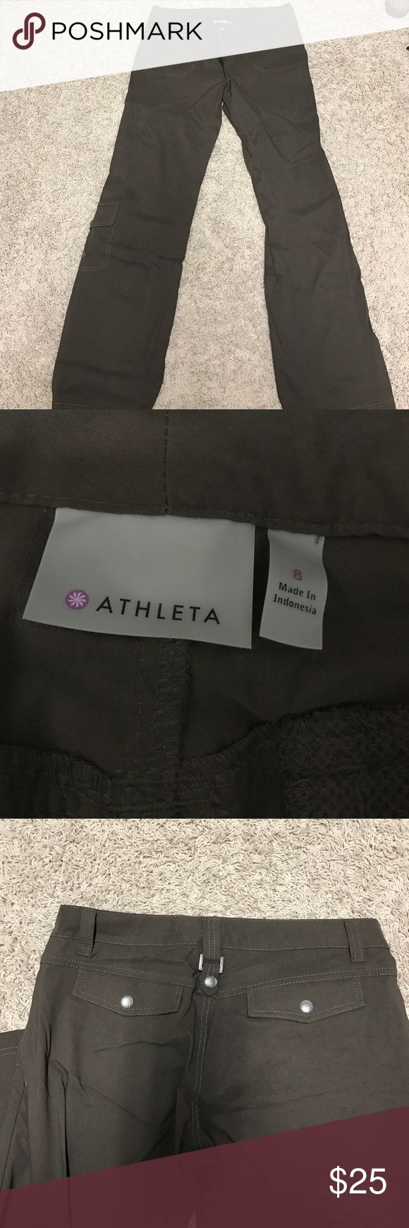 ATHLETA brown nylon/spandex pants BRAND NEW!! (Without tags) brown hiking type pants. Size 8. Never worn! Nylon and spandex! Athleta Pants Straight Leg