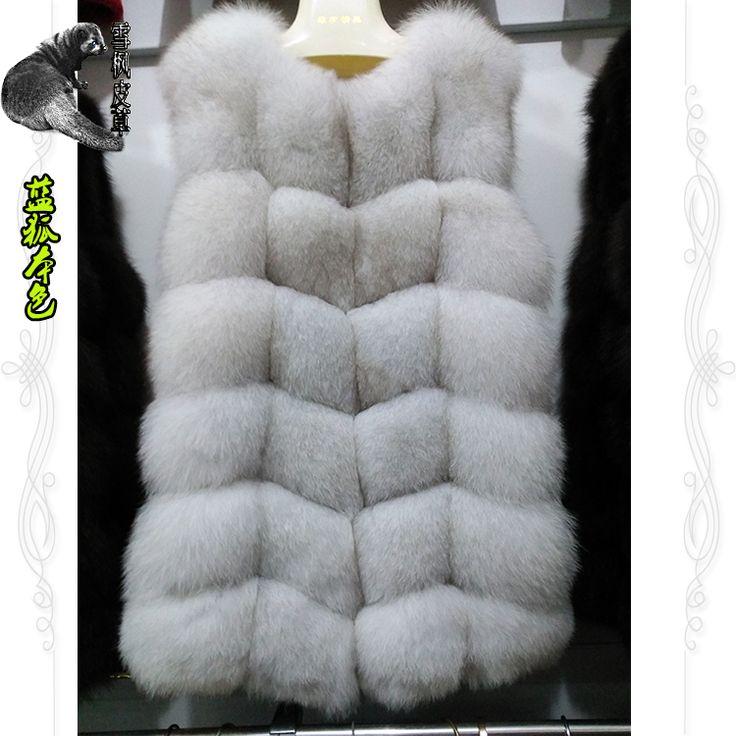 16 новый зимнее пальто женский подлинной лисий мех жилет меховой жилет Интеграл кожа мех лисы жилет и длинные участки - глобальная станция Taobao