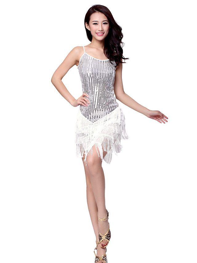 Robe de danse latine Vêtements en polyester pour les dames