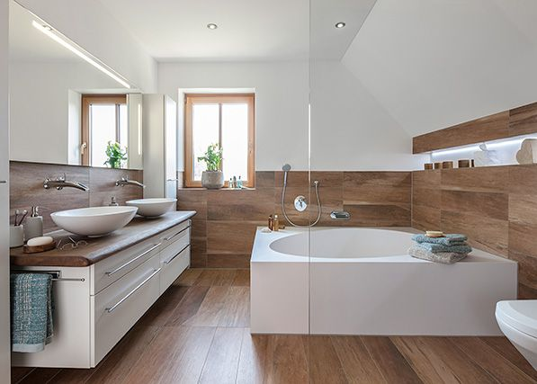 122 best Bad images on Pinterest Bathroom, Modern bathroom and - holz boden und decke modern interieur