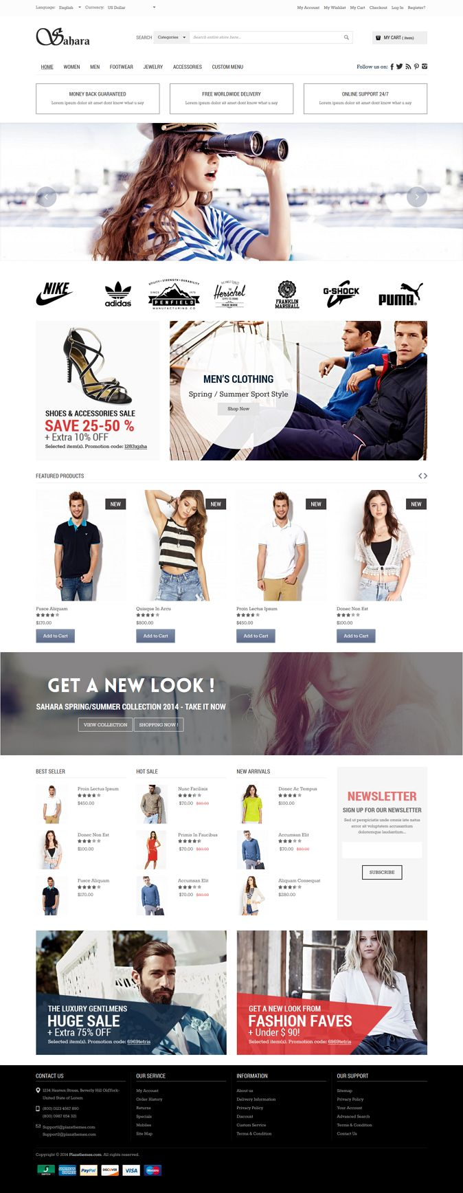Sahara, the newest design from Plazathemes, has been created as a mega store Magento eCommerce solution for online stores.