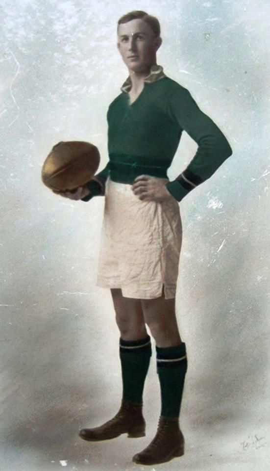 """Edward """"Carji"""" Greeves. Played 1923-1933. Games Geelong 124. Inaugural Brownlow medal 1924. The Geelong Football Club's Best and Fairest award is named after him, the Carji Greeves Medal."""