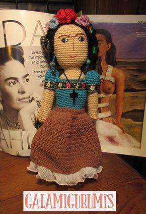 Patrón de Frida Kahlo Amigurumi