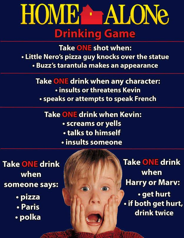 Christmss movie drinking games. Have a drink, ya filthy animal!