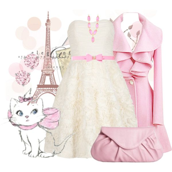 Marie by violetvd on Polyvore featuring polyvore fashion style Ted Baker Swarovski Kenneth Jay Lane Moyna Disney