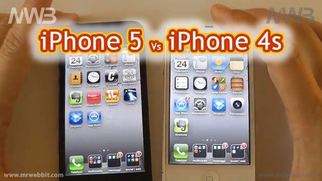 Appena arrivato sul mercato Italiano il nuovo iPhone 5 e moltissimi utenti e fans si Apple hanno iniziato a domandarsi: mi tengo il mio iPhone 4S oppure faccio il salto a iPhone 5?    Vediamo in questo video realizzato dai ragazzi di Telefonino.net quali sono le reali differenze fra iPhone 5 e iPhone 4s in modo da poter decidere se lanciarsi nel nuovo acquisto.