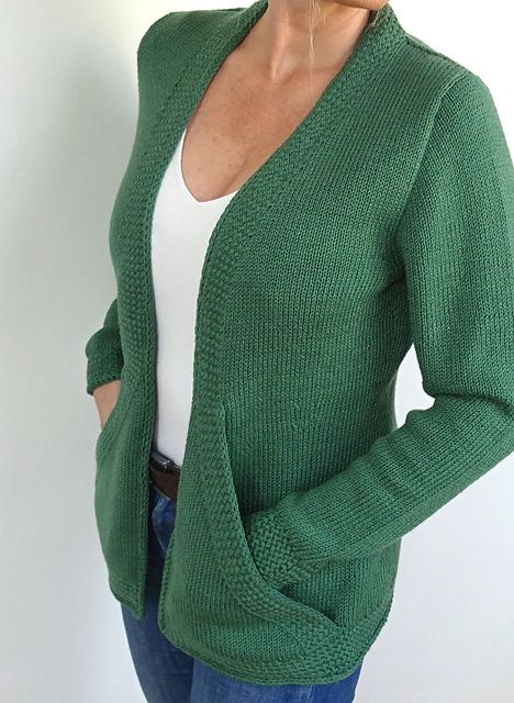 Ravelry: Cross Pockets cardigan pattern by von Hinterm Stein