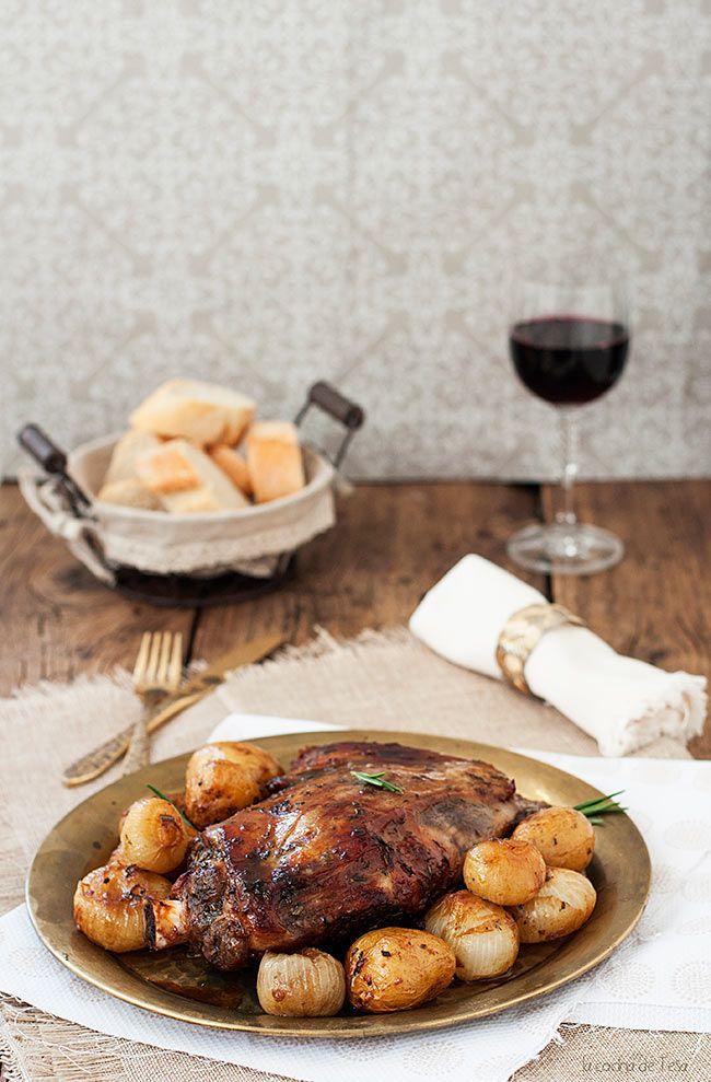 La cocina de Tesa: Paletilla de cordero con papas y cebolletas