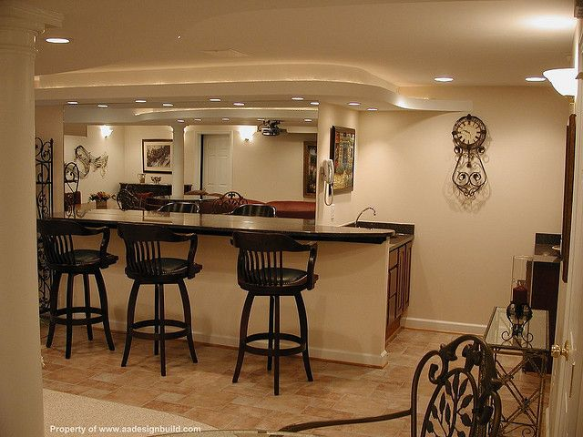 Ceiling Interior Design Ideas For Basement With Rustic Wet Bar Ideas Wet Bar  Ideas For Small Spaces With Recessed Ceiling Lamp Wall Sconce Countertops  ...