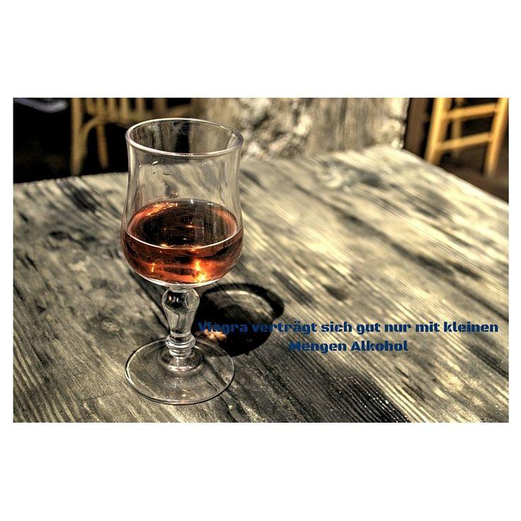 #Viagra verträgt sich gut nur mit kleinen Mengen #Alkohol