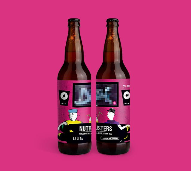 designed by #dushky | #art #illustration #design #graphicdesign #label #product #branding #beer #craft #bereta #hophooligans #nutbusters