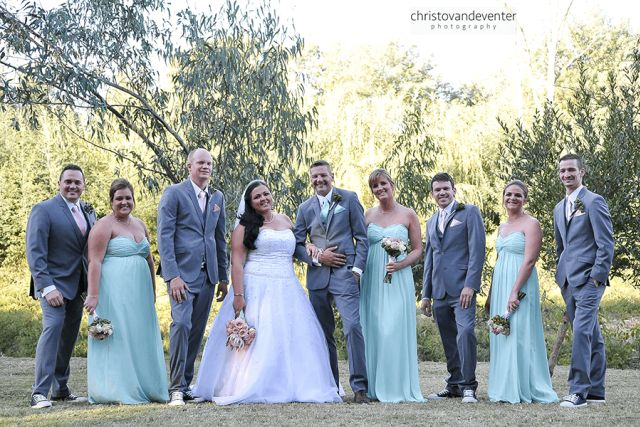 Nicole and her bridal party at Riverstone Lodge