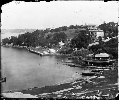 Mansions Heathfield, Hampton Villa, Ewenton and Shannon Grove on the foreshore and a boat under construction on a slipway, Balmain ... 1870-1875 ... American & Australasian Photographic Company ... sl.nsw  Zoomable image: http://acms.sl.nsw.gov.au/_Zoomify/2011/D13950/a2825008.html