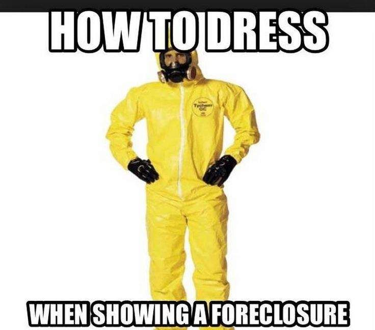 How to dress when showing a foreclosure #realestate #meme