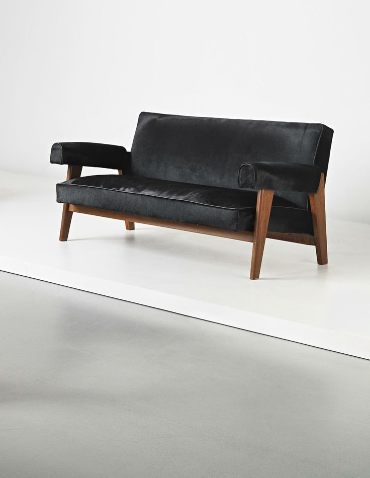 Le Corbusier and Pierre Jeanneret Sofa, model no. LC/PJ-SI-42-A/B, designed for the High Court and Assembly, Chandigarh, circa 1955-1956 ...
