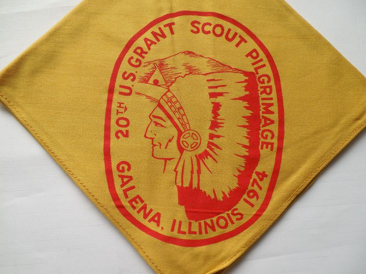 Illinois patch 1974 20th US Grant Scout Pilgrimage Galena
