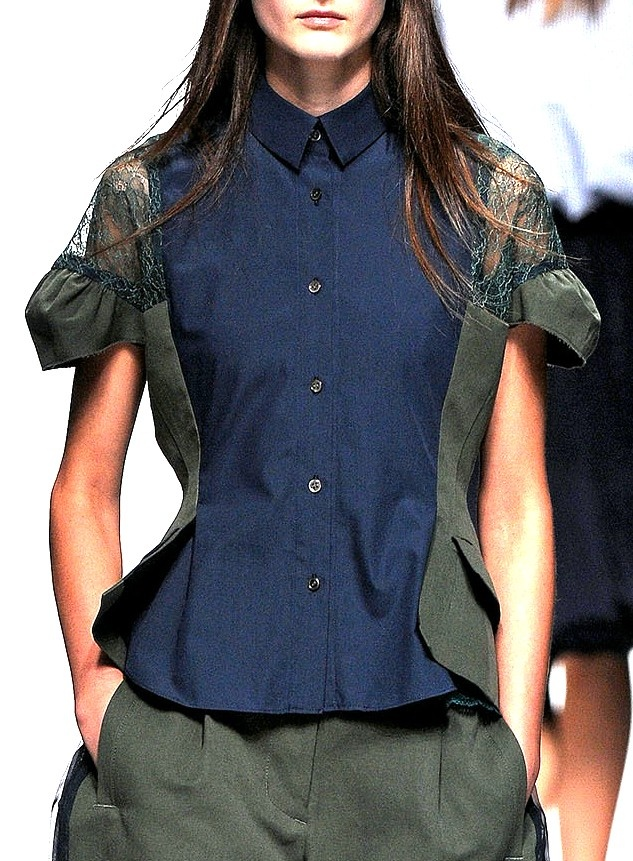 sacai - great inspiration for refashioning that old shirt