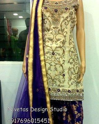 Follow for beautiful punjabi suit designs  @nivetas.design.studio…