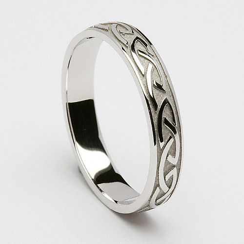 """I want this with """"always"""" engraved inside the band.   """"Cabhan Celtic Wedding Ring (C-359) - Celtic Wedding Rings."""""""