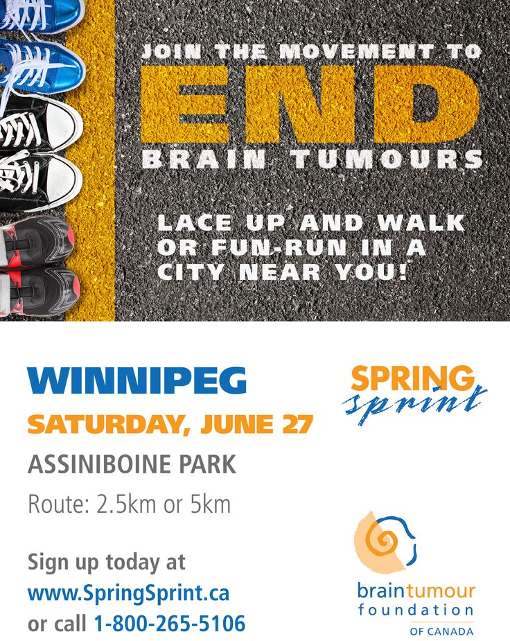 Winnipeg! Join the Movement to END Brain Tumours on Saturday June 27, 2015 in Assiniboine Park. http://www.springsprint.ca/site/TR?fr_id=1219&pg=entry
