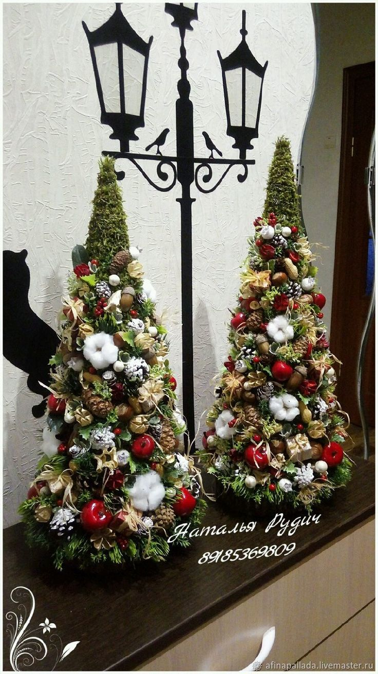 Купить Новогдняя елка в красном - Новый Год, елка новогодняя, елка ручной работы