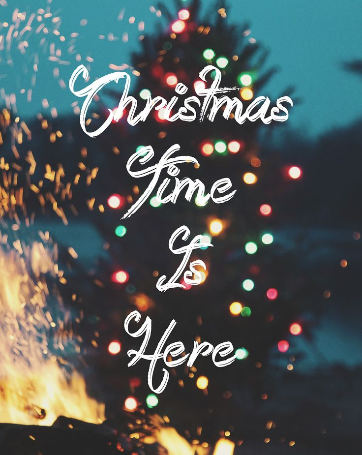 christmas time is here, a time for joy and cheer, put your cares away enjoy the day cause christmas time, is here!